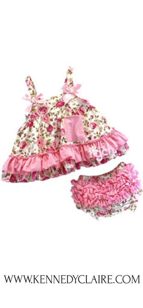 Floral Baby Bloomer Outfit, Floral Baby Romper #babybloomersoutfit