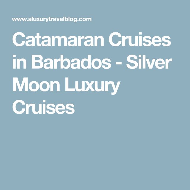 Catamaran Cruises in Barbados - Silver Moon Luxury Cruises