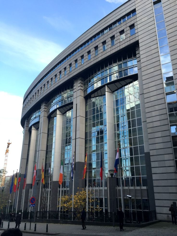 Visiting the European Parliament in Brussels