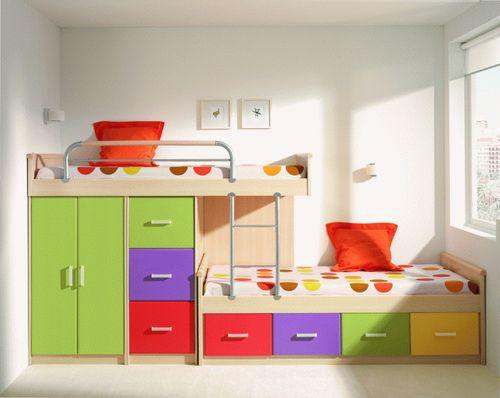 quarto-com-beliche-colorido – Decoração de Casa