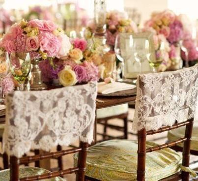 decoração de casamento com renda