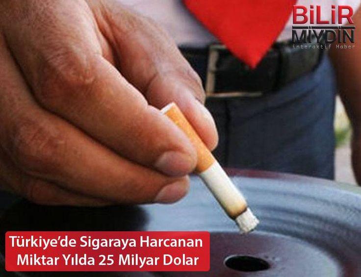 Türkiye'de Sigaraya Harcanan Miktar Yılda 25 Milyar Dolar - https://bilirmiydin.com/turkiyede-sigaraya-harcanan-miktar-yilda-25-milyar-dolar/