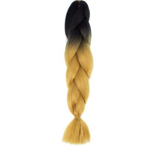 24inch black grey ombre kanekalon jumbo braiding hair