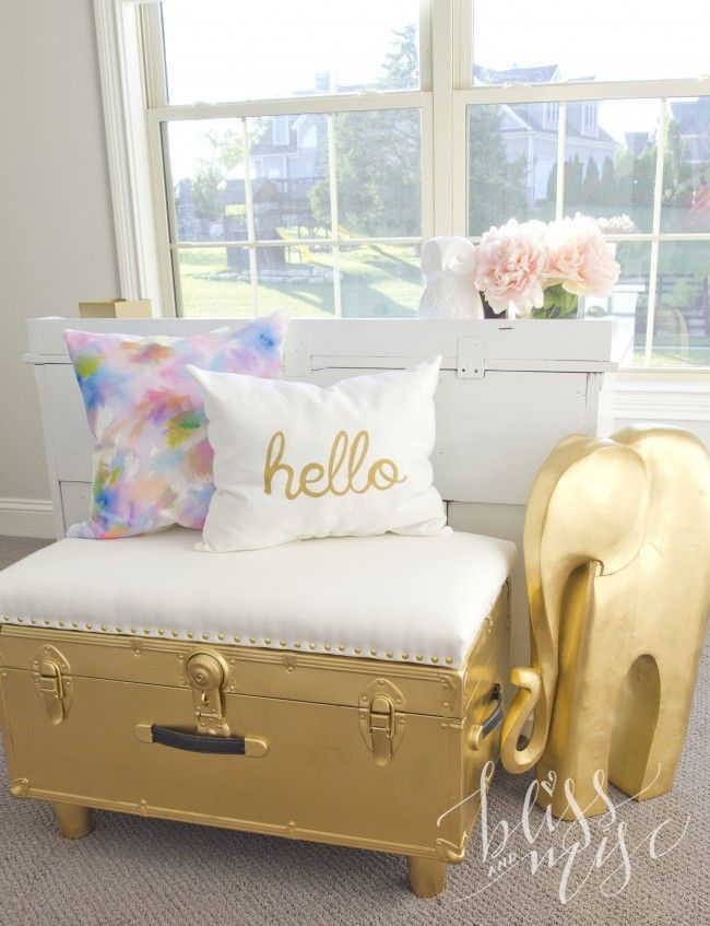 Gold Upcycled Trunk Bench