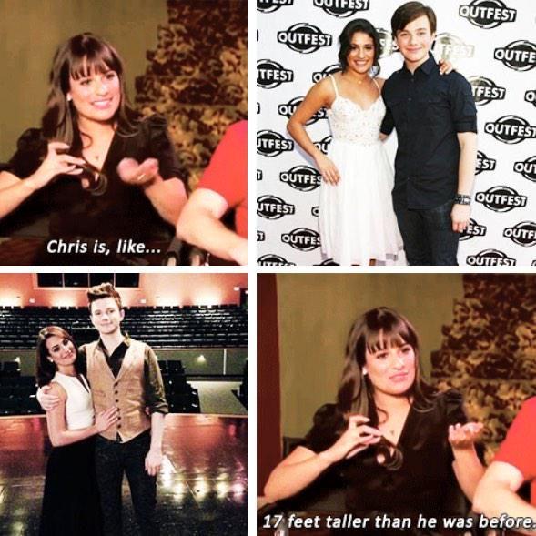 Chris Colfer grew a lot