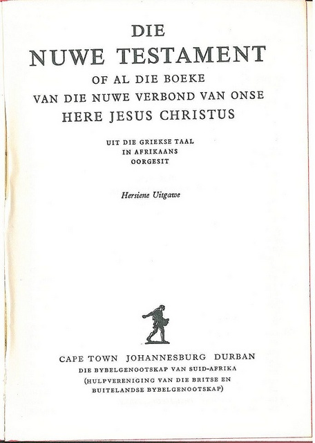 Afrikaans NT Title, Bible In My Language