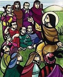 Jesús predicando las Bienaventuranzas.