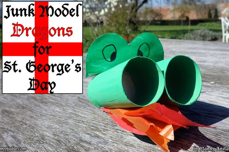 Make your own Junk model dragon to celebrate St. George's Day on April 23rd.