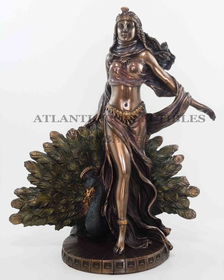 "Greek Mother Goddess Hera Figurine Statue Zeus Wife Mount Olympus Queen 10"" Tall"