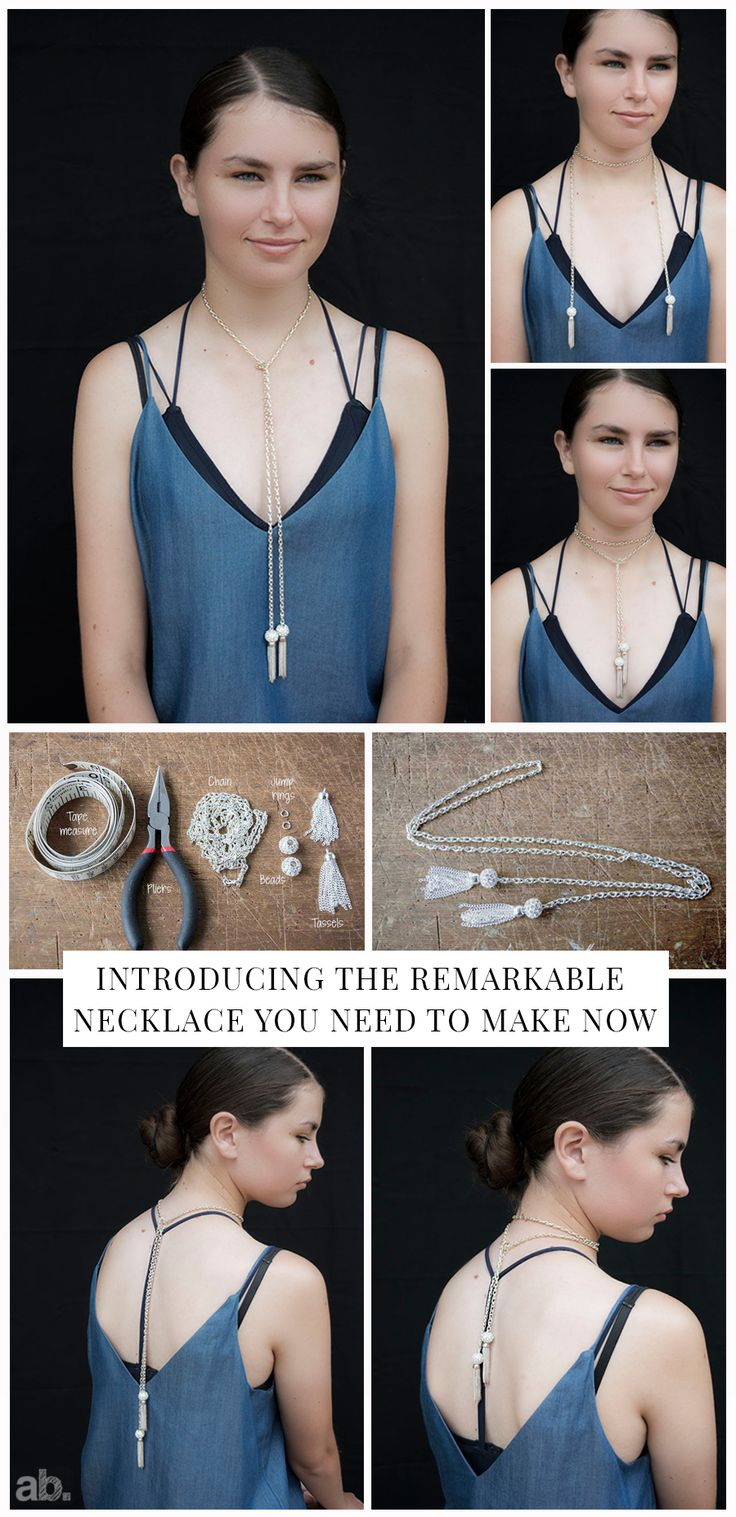 I love this DIY lariat necklace project. It is easy to make, looks amazing and to top it off it can be worn five different ways.  This is a bonus if you are like me and get bored easily. Instructions on the blog :-)