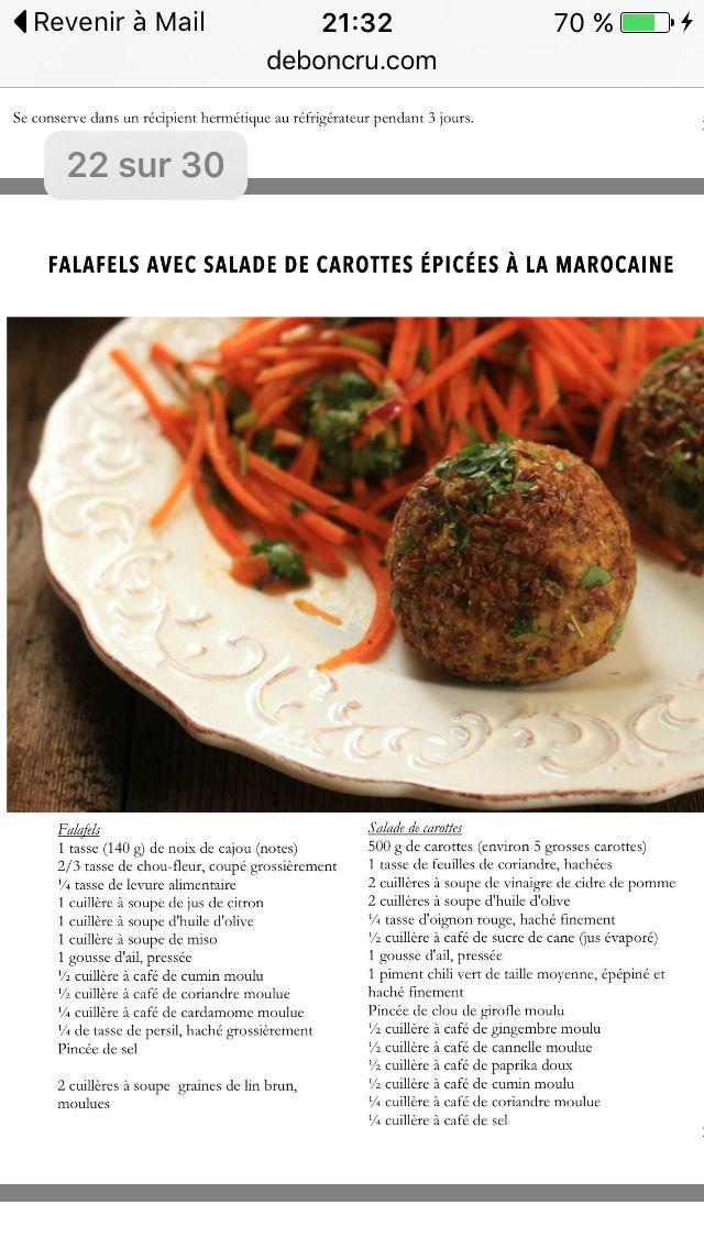 Falafel et salade de carottes (De bon cru)