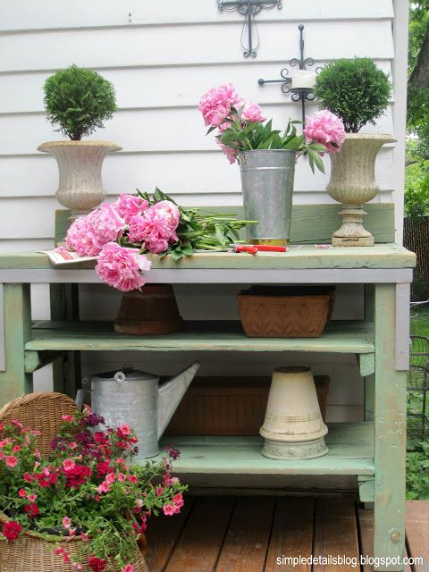 mission possible features: potting benches | It All Started With Paint