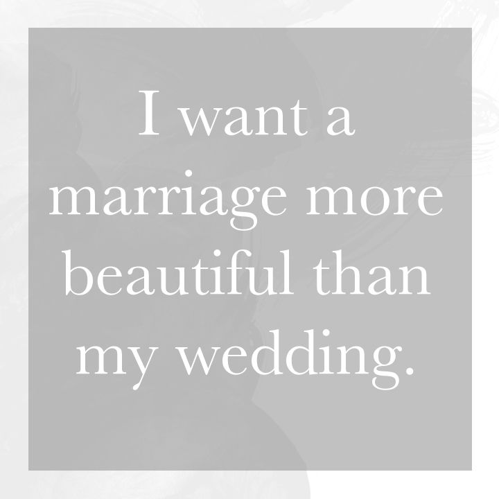 I want a marriage more beautiful than my wedding. | Monday Musings - Natalie Franke Photography