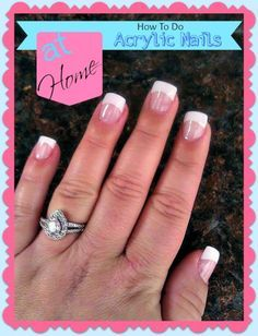 How To Do Your Own Acrylic Nails At Home... For when I do other people's fake nails!