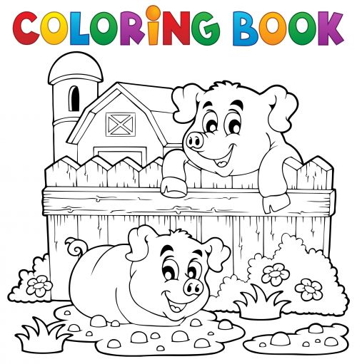 Coloring Book Cover Farm