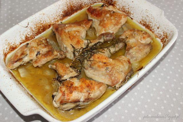 Frango no forno com alecrim e lima