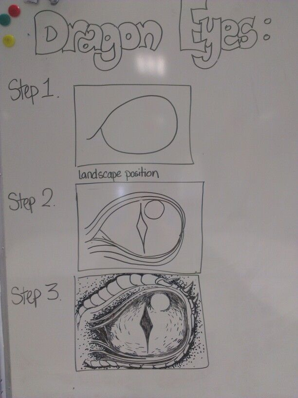 How to Draw Dragon Eyes - Year 3-5