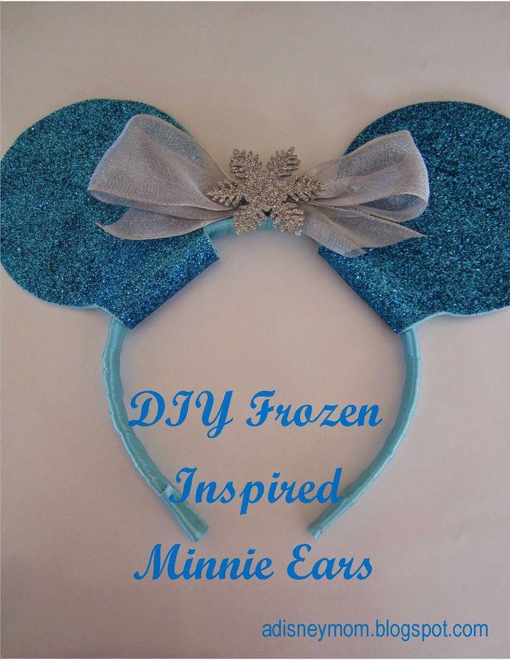 A Disney Mom: DIY: Frozen Inspired Minnie Ears; Disney ears; Elsa headband