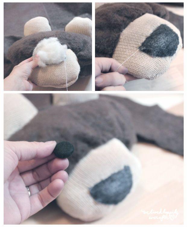 Veja passo a passo como fazer um tapete de urso