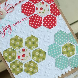 Love this! Embossed card base and patchwork pieces - easy to recreate