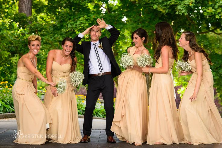 Funny picture of groom and the bridesmaids (Kristen Borelli Photography, Victoria Golf Club Wedding Photography, Victoria Wedding Photographer, Victoria Wedding Photography, Nanaimo Wedding Photographer, Nanaimo Wedding Photography, Vancouver Island Wedding Photographer, Vancouver Island Wedding Photography, Prince George Wedding Photographer, Prince George Wedding Photography)