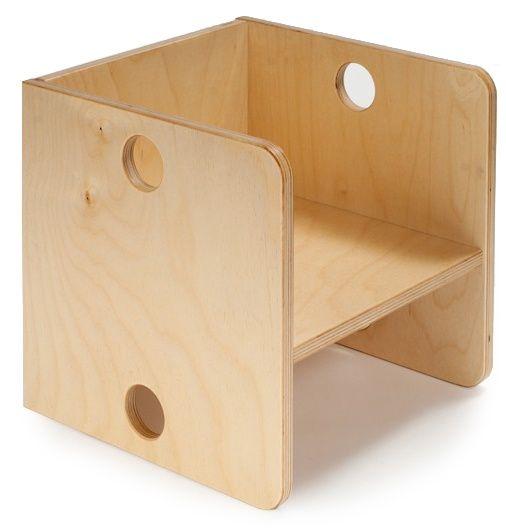 Houten kubus stoel, Ado   Ado houten speelgoed   Villa Hoera