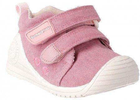 97d33b74cba Biomecanics 192201 Pink Canvas Shoes - Biomecanics - Little Wanderers