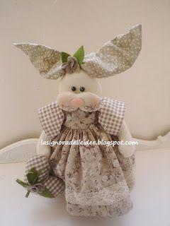La Signora delle Idee: Vi presento Betty bimba, una coniglia di pezza