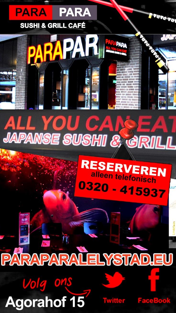 Modern sfeervol Japans restaurant met het All You Can Eat Concept. Nu ook in #Lelystad. Agorahof 15. Para Para www.paraparalelystad.eu  van de speciale Japanse keuken.