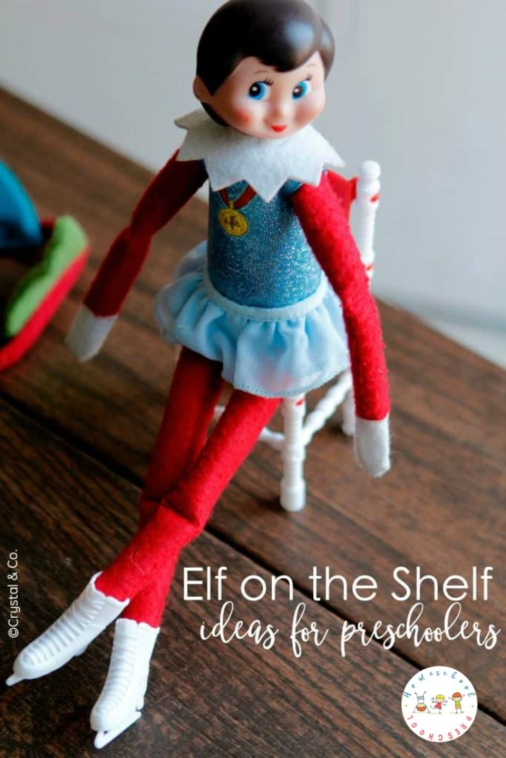 Doing Elf on the Shelf with preschoolers is so much fun! If you are looking for some quick Elf on the Shelf ideas, here are some to keep up your sleeve. #elfontheshelf #elfontheshelfideas #elfontheshelfforpreschoolers #christmas #preschoolchristmasideas   https://homeschoolpreschool.net/elf-on-the-shelf-ideas/