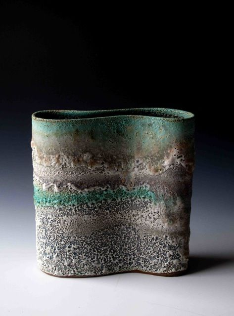 (via The New Craftsman Gallery | St. Ives | Cornwall - Katrina Pechal - Curved Vase)
