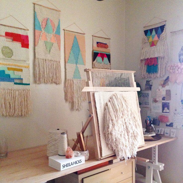 Weaving studio from Maryanne Moodie  www.maryannemoodie.com