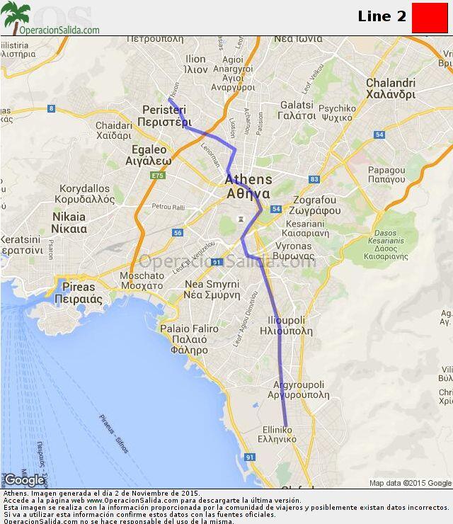 Mapa metro Atenas Line 2