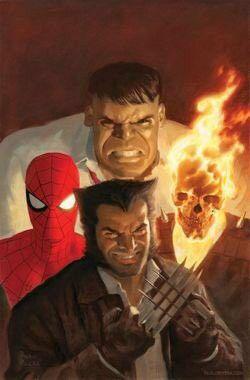 New FF Ghost Rider Hulk Spidey and Wolverine