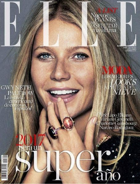 Gwyneth Paltrow - Elle Magazine Cover [Spain] (January 2017)