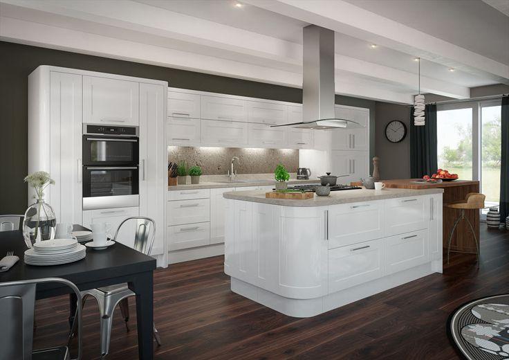 Leighton gloss white kitchen ideas pinterest white for Kitchen ideas magnet