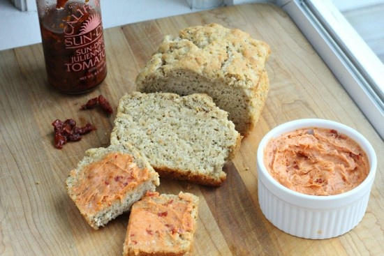 Italian Beer Bread & Sundried Tomato Butter - wow! this sounds delish!