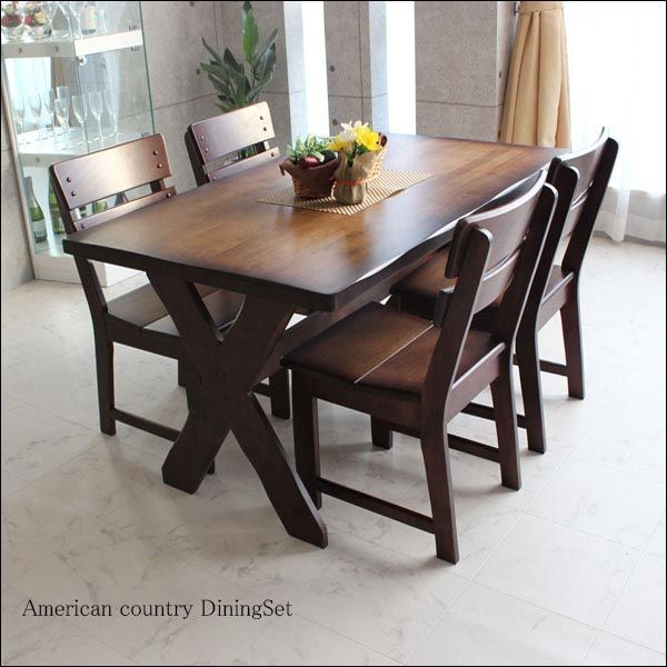 5 Piece Wood Dining Table Set 4 Person Home Kitchen Table And
