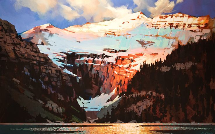 Light and Shadow, Lake Louise, by Michael O'Toole