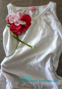 redo t-shirt- flower