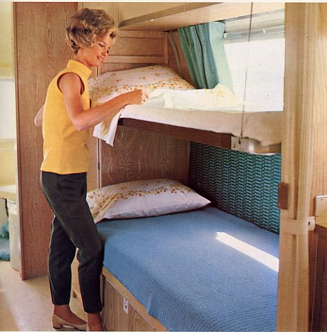Unlike The Earlier Fold Down Permanent Bunk Beds That Replaced Overhead Cabinets These Cable Suspended Work In Conjunction W