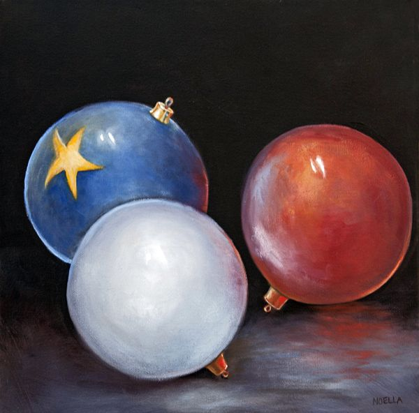 Two important things in my life are joined in the painting called Noël en Acadie. My heritage and Christmas. Painted in oils.