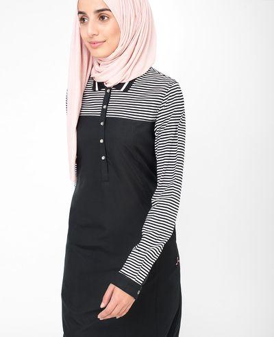 Black Stripe Sporty Jilbab