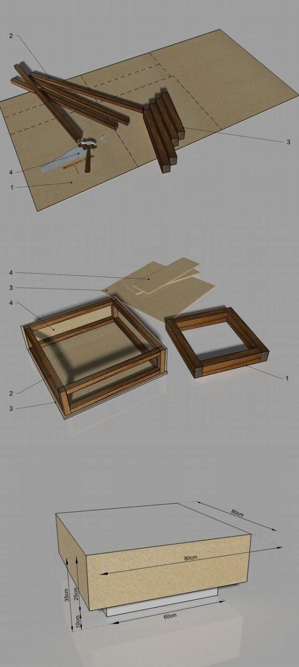 Stolik kawowy, płyta MFP, zrób to sam/ coffee table, DIY, MFP board, #MFP