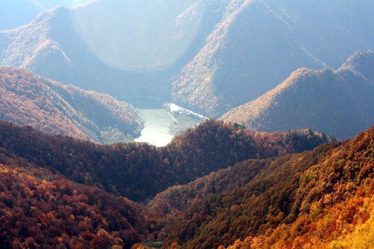 Cozia National Park - Romania River Olt flowing through the mountains