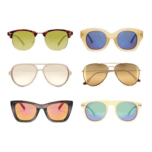 Trend Alert: Mirrored Sunnies | Six grown-up styles, all $50 or less.