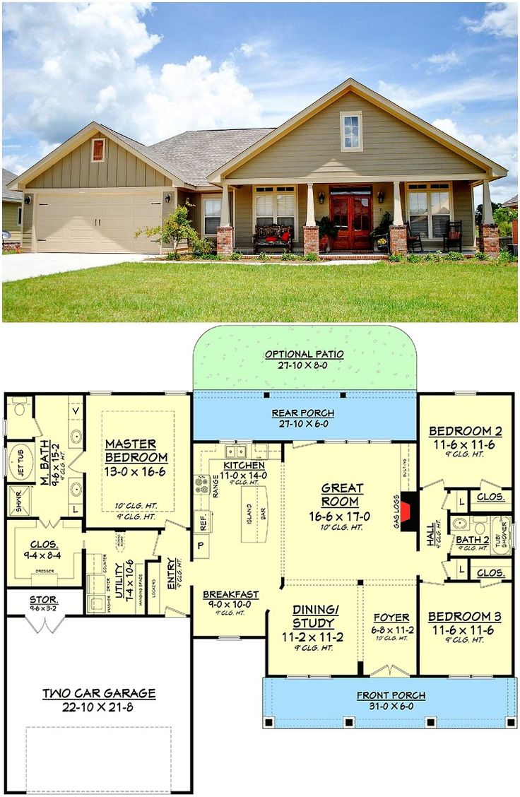 house plans with large kitchens and porches
