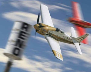 Watching a P-51 round the pylons in the Gold Race at the Reno Air Races!