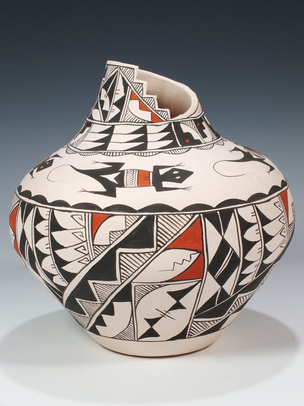 Acoma Pueblo Hand Coiled Pottery  by Leland Robert Vallo