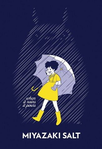 Pop artist makes familiar logos even better with Ghibli characters - Morton Salt Totoro and friends.